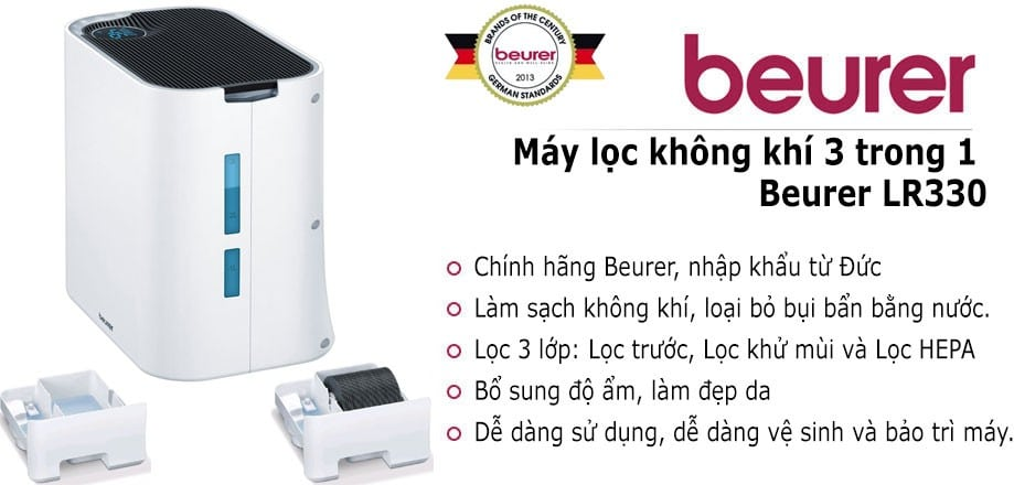 máy lọc không khí và tạo ẩm Beurer